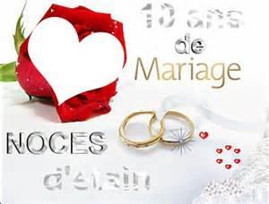 10 ans de mariage montage photo 10 ans de mariage pixiz