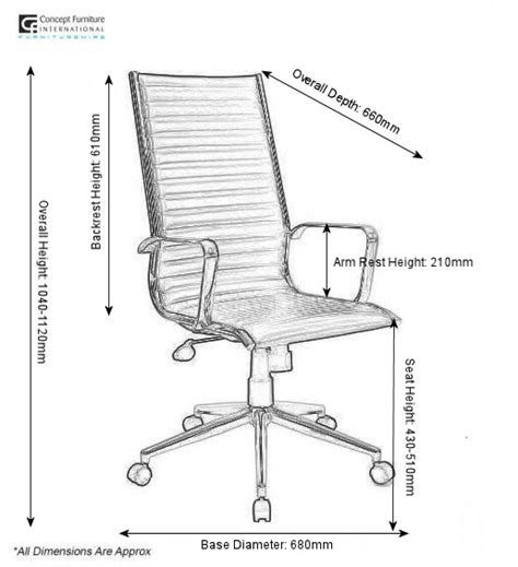 Desk Chair Size by Eames Style Ribbed Swivel Office Chair Hire