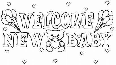 Coloring Shower Pages Printable Welcome Sheets Birthday