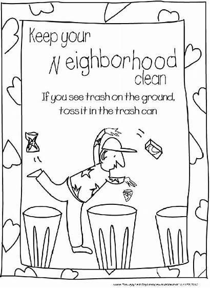 Coloring Litter Sheets Environmental Earth Worksheets Kindergarten