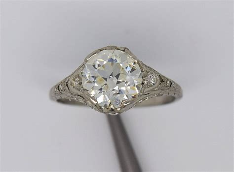 1920s deco engagement rings 1920s deco 2 82 carats cert diamonds platinum engagement ring for sale at 1stdibs