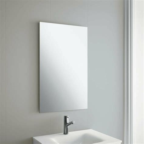 Hanging Bathroom Mirror by 50 X 70cm Frameless Rectangle Bathroom Mirror With Wall