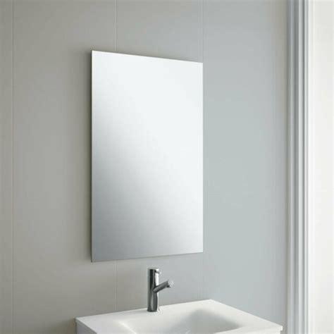Rectangle Bathroom Mirrors by 50 X 70cm Frameless Rectangle Bathroom Mirror With Wall