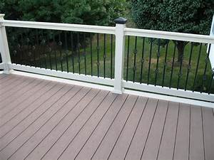 all about vinyl deck railing kits installation With deck building kits lowes
