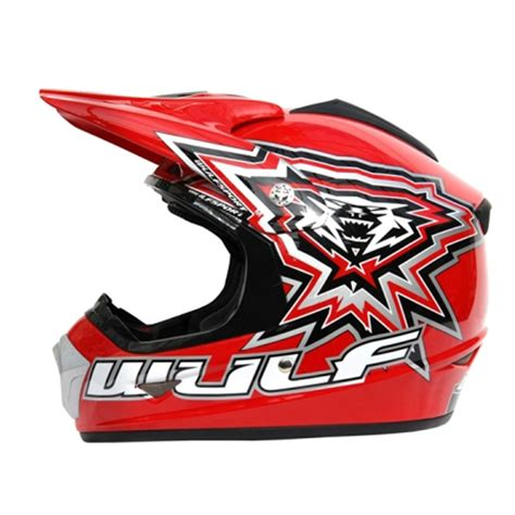 red motocross helmet wulf sport cub helmet red bikes 4 fun