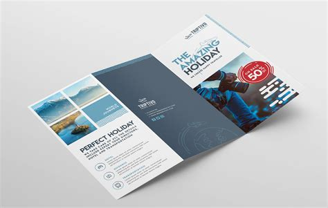 Trifold Brouchure Template Photoshop by Travel Company Trifold Brochure Template For Photoshop