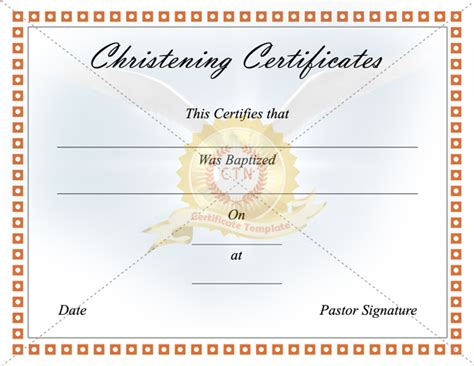 Baptism Certificate Template Free by Baptism Certificate Template Free Choice Image