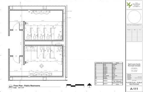 Perfect Public Bathroom Floor Plan With Revit Architecture