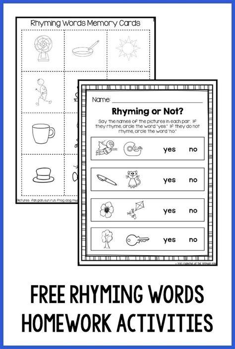 usable rhyming worksheets kindergarten goodsnyc