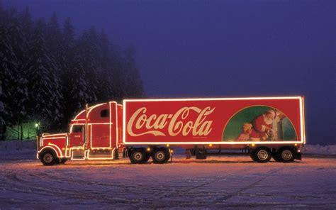 the petrol stop coca cola trucks