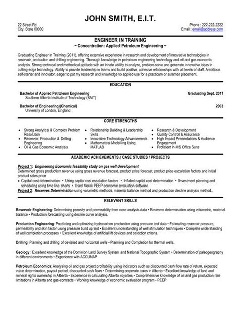engineering resume templates samples images