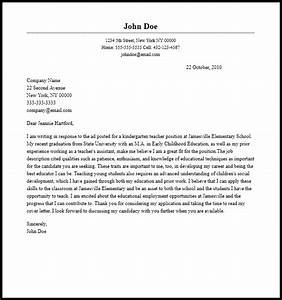 professional kindergarten teacher cover letter sample With cover letter to be a teacher
