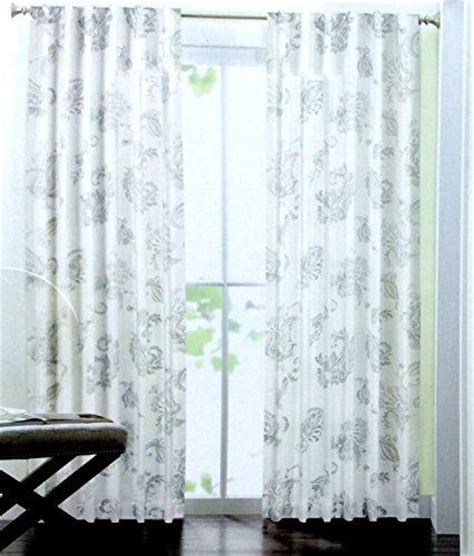 tahari home curtains blue tahari home paisley scrolls window panels 52 by 96 inch