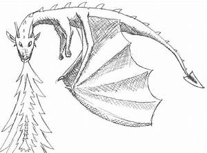 Fire-breathing dragon - ink sketch by TheWolfsFriend on ...