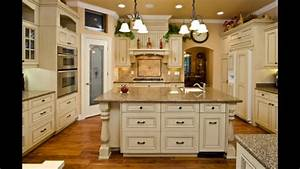 antique cream colored kitchen cabinets youtube With kitchen colors with white cabinets with music sheet wall art