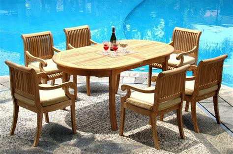 Stores That Sell Outdoor Furniture by 7 Pc Teak Dining Set Garden Outdoor Patio Furniture D03