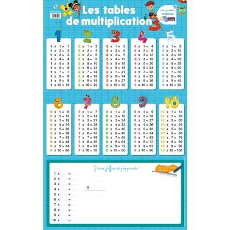 site pour apprendre les tables de multiplication poster les tables de multiplication livre maternelle primaire cultura