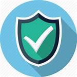 Security Icon Shield Check Mark Icons Verbatim