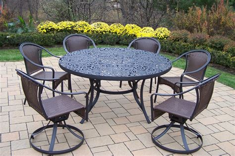 oakland living patio dining set 60 quot interchangeable