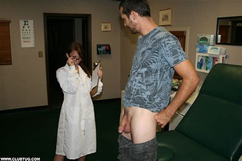 Hot Doctor Jenna Jaded Inspects Her Patients Big Dick Of