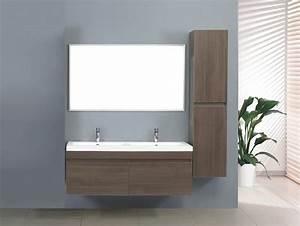 Meuble Salle De Bain Suspendu : salle de bain meuble zen 1 grand meuble salle de ~ Melissatoandfro.com Idées de Décoration