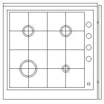bloc cuisine autocad cuisinière plaque de cuisson 3 dwg blocscad com