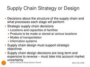 supply chain design supply chain strategy or design