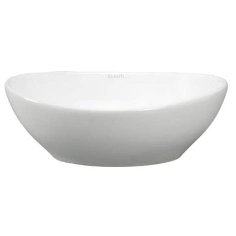 Home Depot Vessel Sinks by Elanti Oval Vessel Bathroom Sink In White Ec9838 The