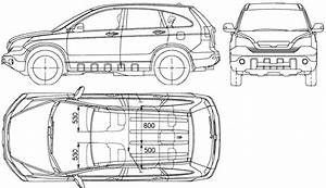 2007 honda cr v suv blueprints free outlines With 1970 honda cr v