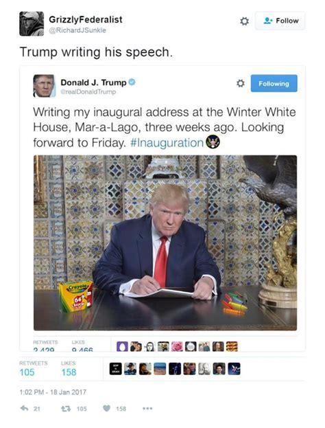 Trump Inauguration Memes - twitter users mock trump s inauguration speech tweet with memes ny daily news
