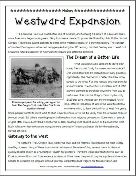 westward expansion worksheet worksheets