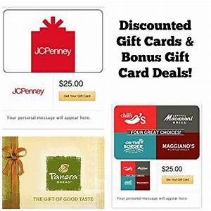 Discounted Gift Card Deals!