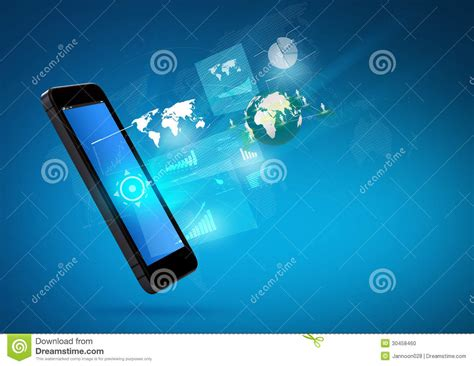 Mobile Compter Technology Royalty-free Stock Photo