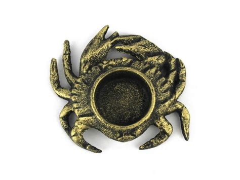 decorator crabs are bottom dwelling or buy antique gold cast iron crab tealight holder 4 5 inch