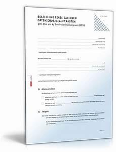 Einverständniserklärung Muster Datenschutz : bestellung externer datenschutzbeauftragter muster zum download ~ Themetempest.com Abrechnung