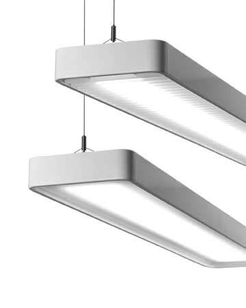 Suite of Suspended and Wall-mount Luminaires for T8 or T5