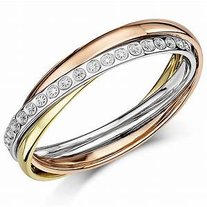 4mm 9Ct 3 Colour Gold Diamond Cut Effect Russian Style