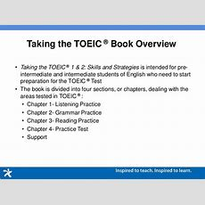 Taking The Toeic 1 & 2 Academic Presention