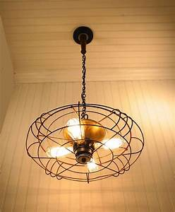 Pendant light from industrial fan source lampgoods etsy