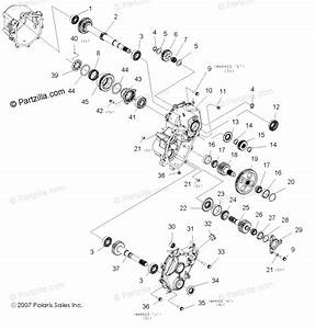 Polaris Side By Side 2008 Oem Parts Diagram For Gearcase  Main  Internal Components 1