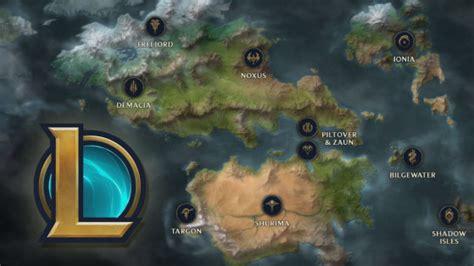 lol lore nouvelle map de runeterra avec noxus ionia