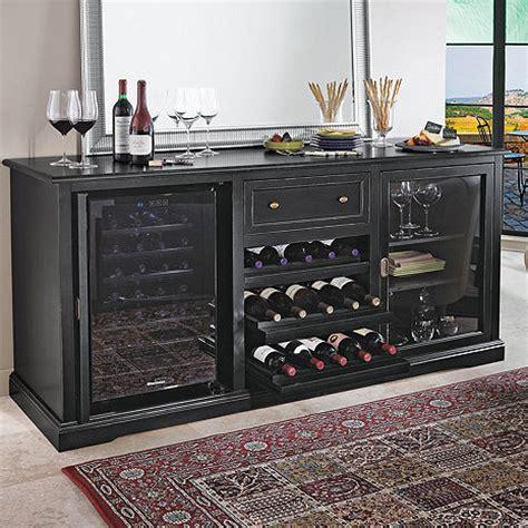 Wine Credenza Cooler - siena wine credenza nero with two wine refrigerators
