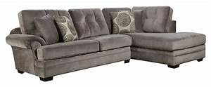 Sectional sofa with chaise on right side by corinthian for Sectional sofa with right side chaise
