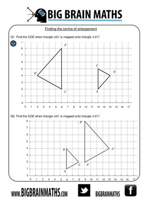worksheet     enlargements