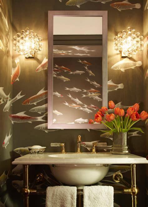 wallpaper designs for bathroom photos hgtv