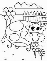Coloring Flower Cow Springtime Spring Sheets Printable Elementary Colornimbus Winter Season Viatico Coloringfolder Fresh sketch template