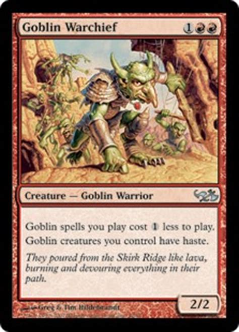 Goblin Commander Deck Wort by Goblin Warchief Duel Decks Elves Vs Goblins Gatherer