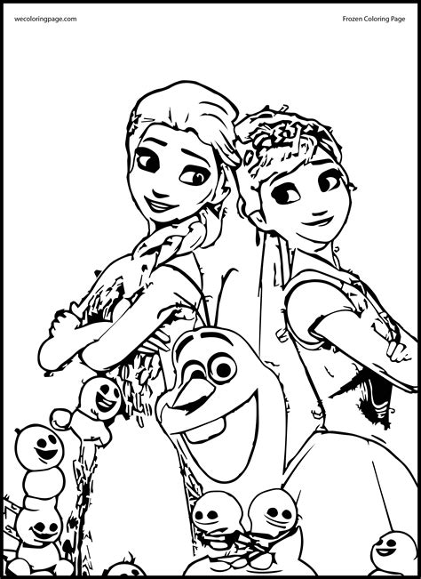 elsa  anna coloring pages coloring home