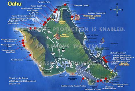 hawaii maps oahu
