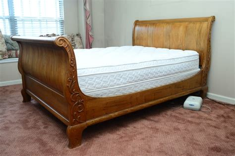 queen size ethan allen french country maple sleigh bed ebth